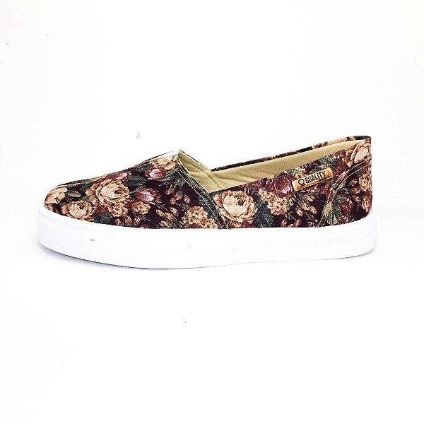 Tênis Slip On Quality Shoes Feminino 002 Floral
