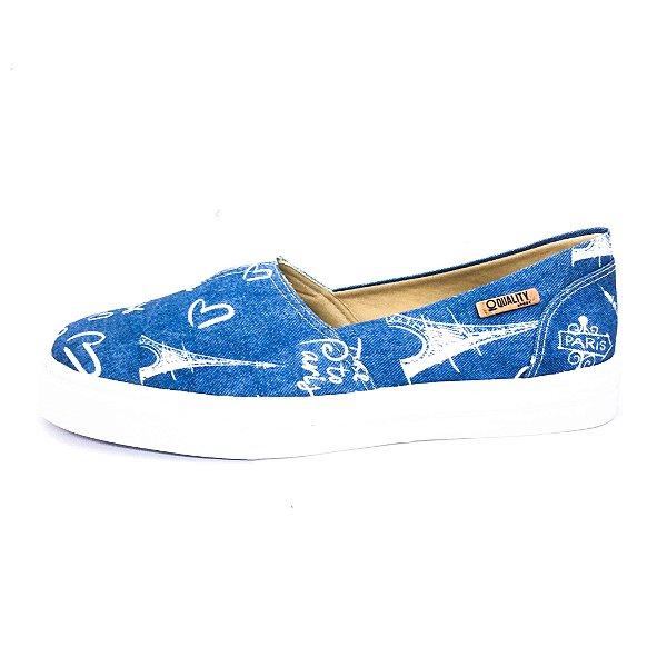 Tênis Slip On Quality Shoes Feminino 002 Jeans Paris