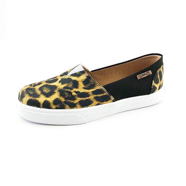 Tênis Slip On Quality Shoes Feminino 002 Animal Print/Preto