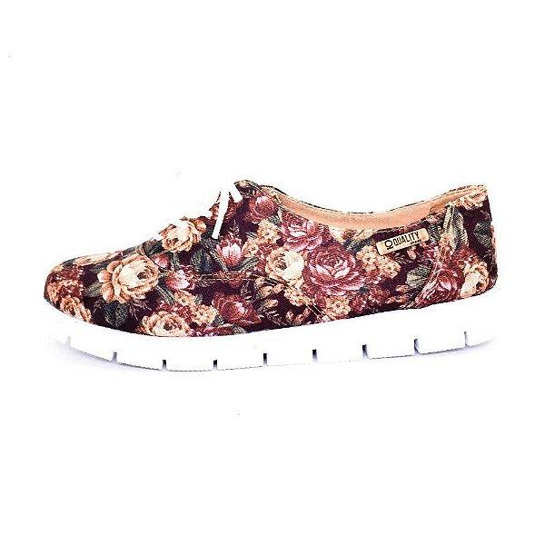 Tênis Tratorado Quality Shoes Feminino 005 Floral