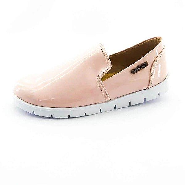 Tênis Tratorado Quality Shoes Feminino 004 Verniz Bege Rosado