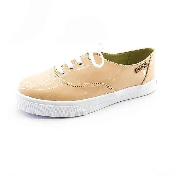 Tênis Quality Shoes Feminino 005 Verniz Bege