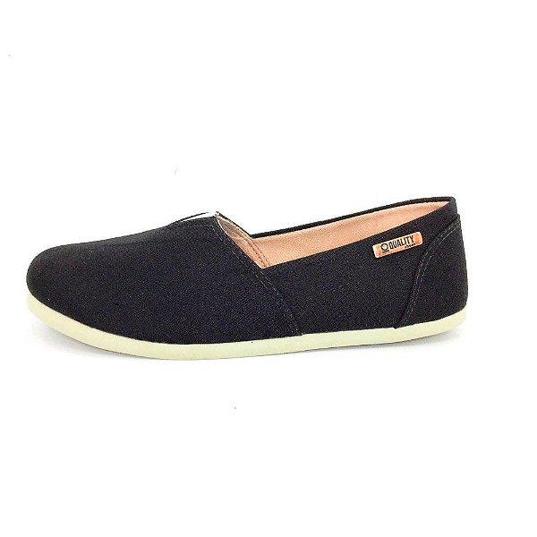 Alpargata Quality Shoes Feminina 001 Lona Preta