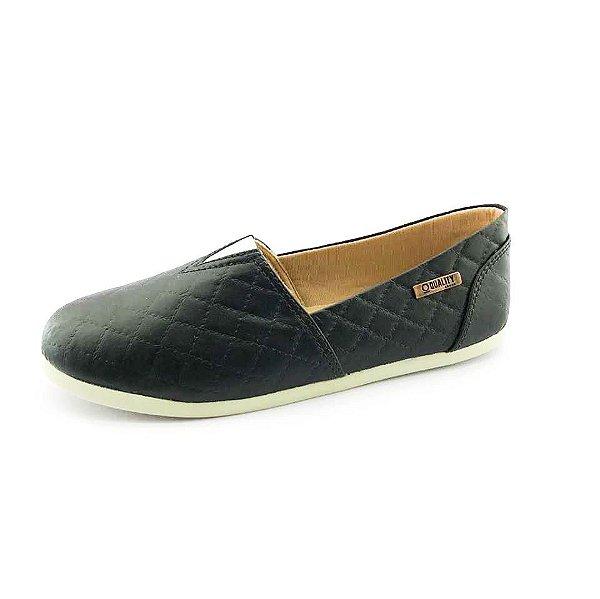 Alpargata Quality Shoes Feminina 001 Matelassê Preto