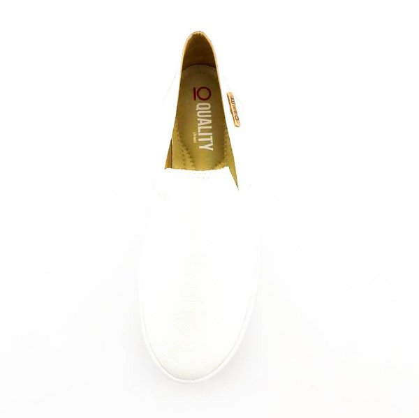 Tênis Flatform Quality Shoes Feminino 004 Croco Branco