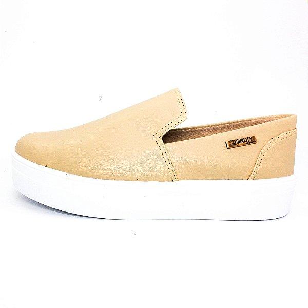 Tênis Flatform Quality Shoes Feminino 004 Nude