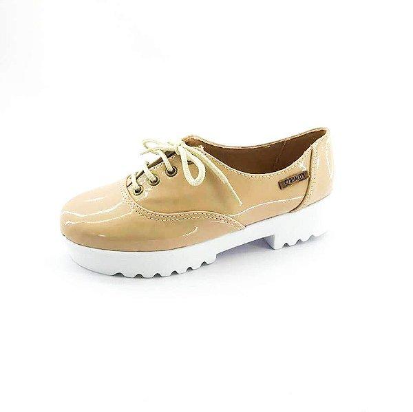 Tênis Tratorado Quality Shoes Feminino 005 Verniz Bege
