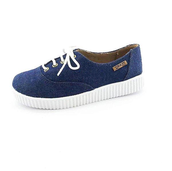 Tênis Creeper Quality Shoes Feminino 005 Jeans Escuro
