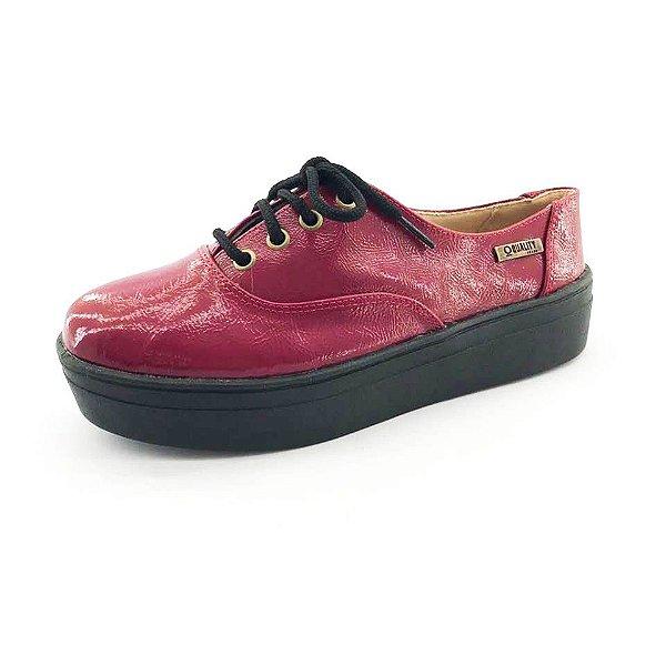 Tênis Flatform Quality Shoes Feminino 005 Vermelho Sola Preta