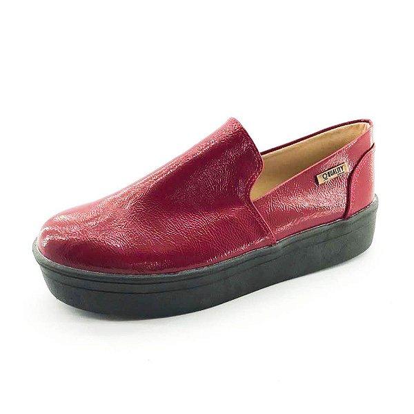 Tênis Flatform Quality Shoes Feminino 004 Vermelho Sola Preta