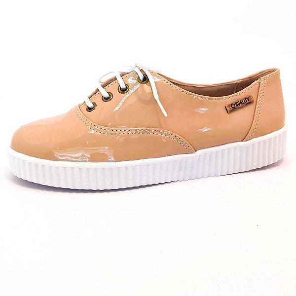 Tênis Creeper Quality Shoes Feminino 005 Verniz Nude