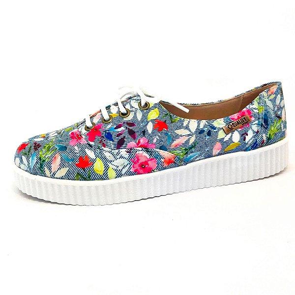 Tênis Creeper Quality Shoes Feminino 005 Floral 214
