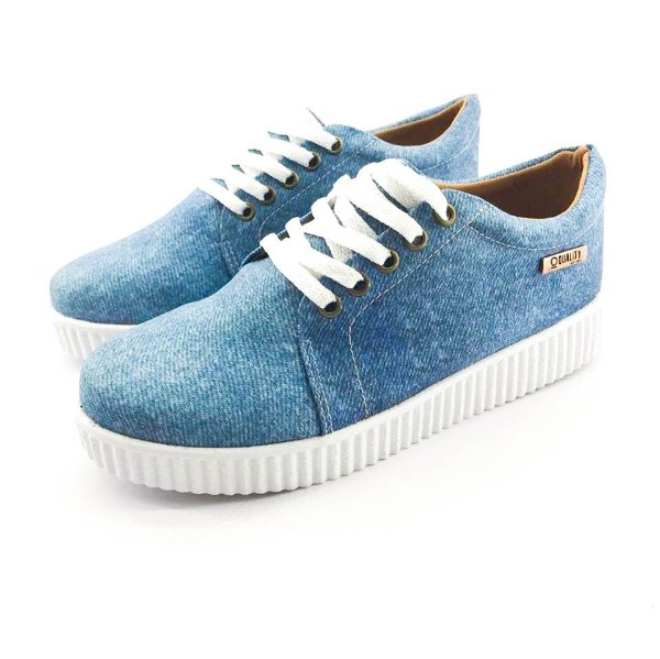 Tênis Creeper Quality Shoes Feminino 007 Jeans