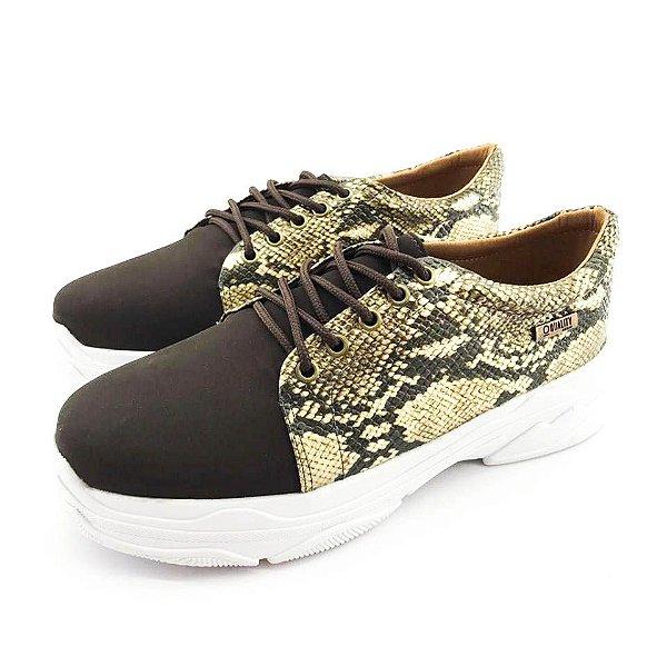 Tênis Chunky Quality Shoes Feminino Phyton Marrom