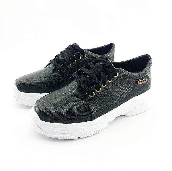 Tênis Chunky Quality Shoes Feminino Preto