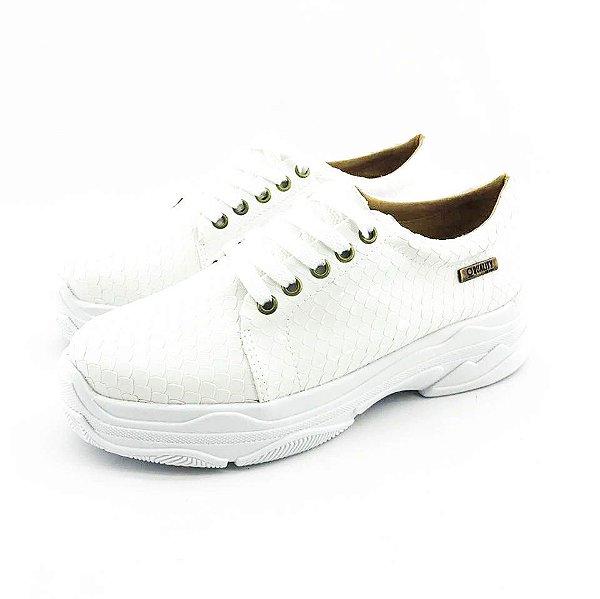 Tênis Chunky Quality Shoes Feminino Escamas Brancas