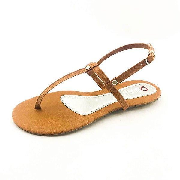 Rasteira Quality Shoes 010 Caramelo