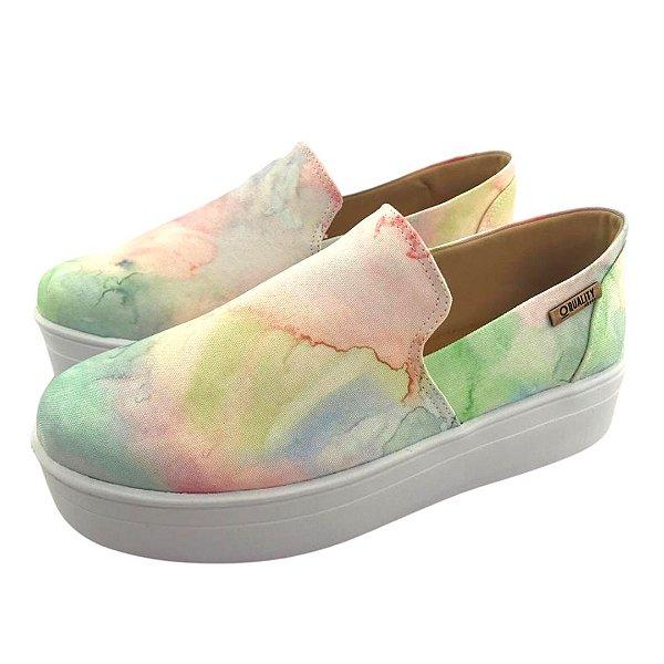 Tênis Flatform Quality Shoes 004 Tie Dye 01