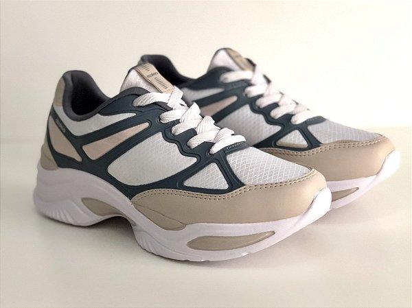 Tênis Azaleia Dad Sneaker  - Nude e Cinza