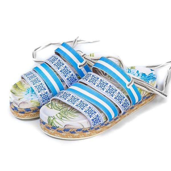 Sandália Flat Mantra Azul
