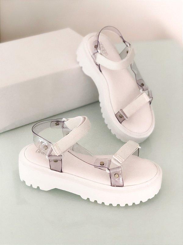 Sandália Atena Cristal Branca