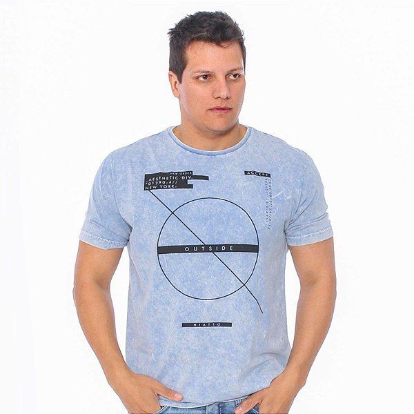 Camiseta Masculina Hiatto Marmorizada  Manga Curta