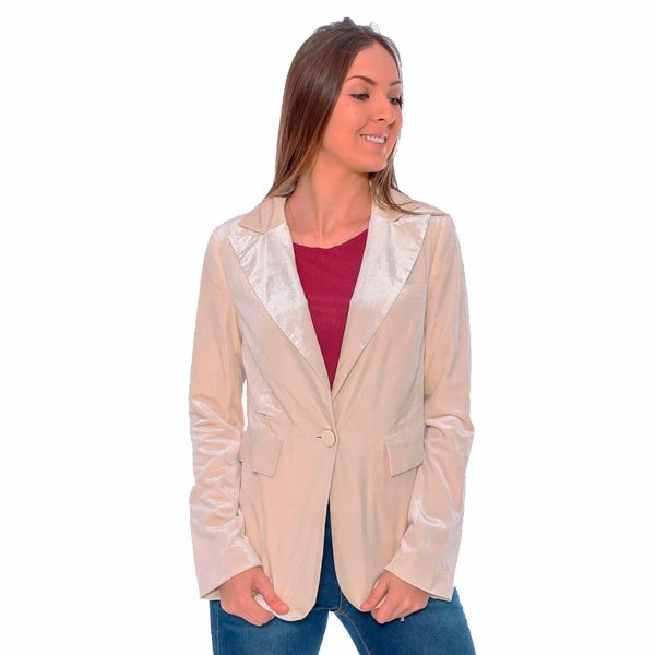 cb51c59ea Blazer Hiatto Feminino Off White - Loja Virtual • HIATTO