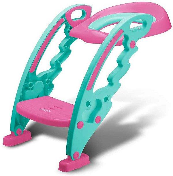 Redutor de Assento Infantil com Escada Rosa, 18+m, Multikids