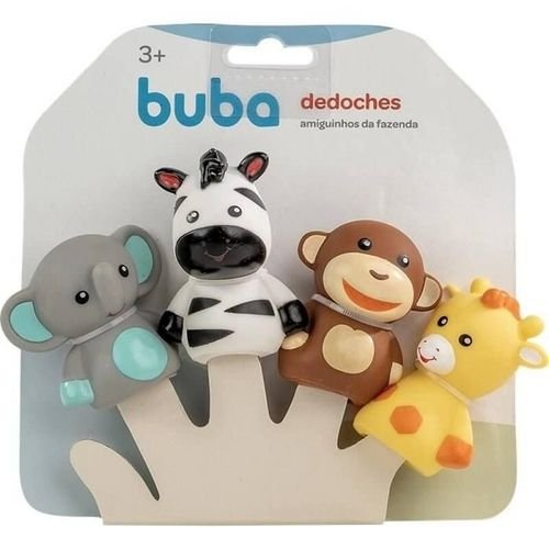 Dedoches de Animais Amiguinhos da Selva 36+m - Buba