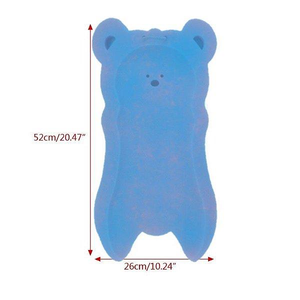 Esponja Antiderrapante Azul para Banheira de Bebê 52cmx27cm