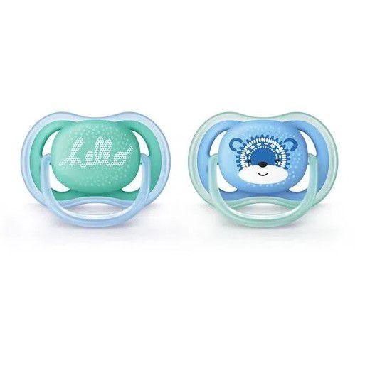 Chupeta Ultra Air Urso Azul 2 Unidades 6 a 18m Philips Avent