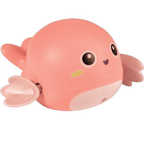 Brinquedo de Banho Baleia Rosa, +6m - Buba