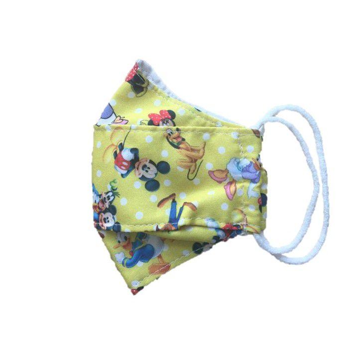 Máscara Infantil Reutilizável Tam P Disney Poá