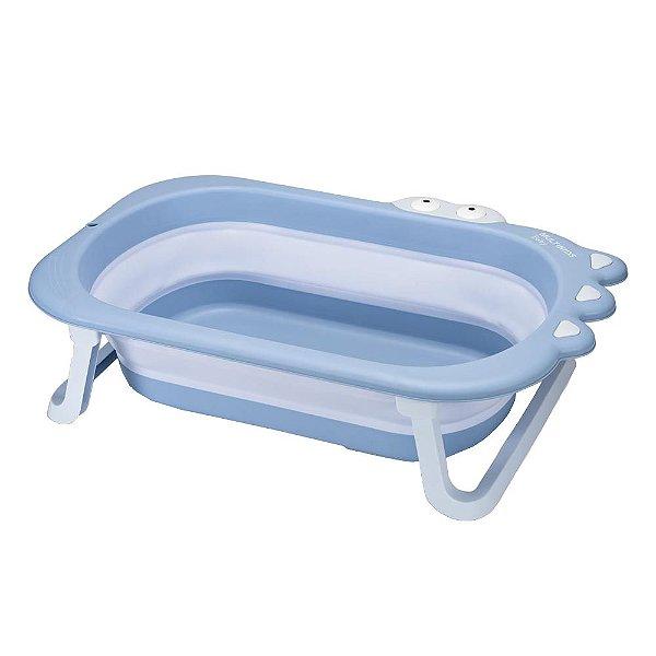 Banheira Retrátil Infantil Crocodilo +0m Azul Multikids