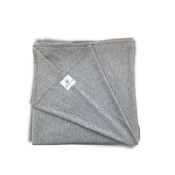 Sling Wrap Artesanal em Malha de Algodão 5mx55cm Cinza