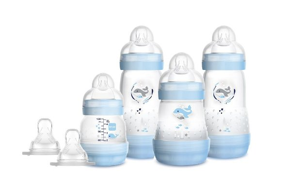 Kit 4 Mamadeiras MAM Easy Start - Gift Set (0+ Meses) - Azul