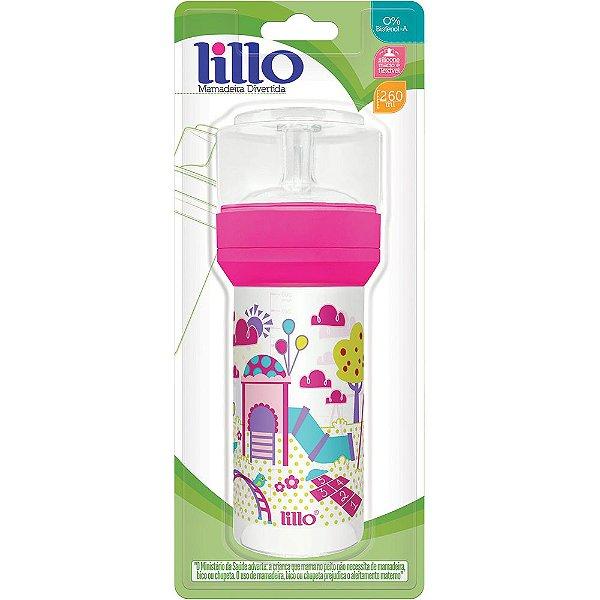 Mamadeira Super Divertida 260Ml - Rosa - Lillo