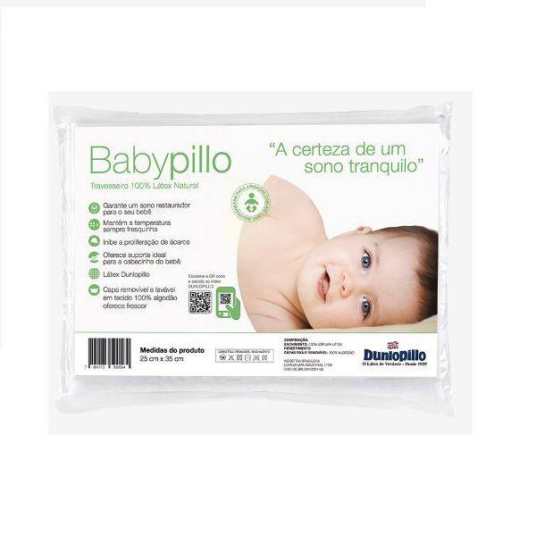 Travesseiro Infantil Bebê Latex Babypillo 25X35