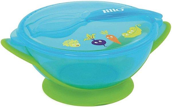 Prato Infantil com Ventosa Design Azul - Lillo