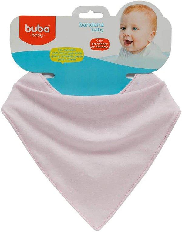 Bandana Algodão e Forro Impermeável Baby, Rosa - Buba