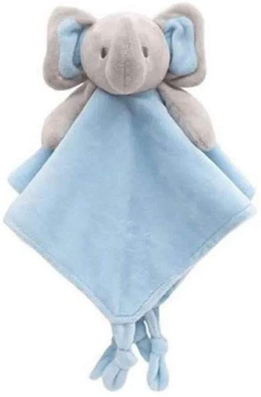 Naninha Elefantinho Pelúcia Plush Azul, 3m+, Buba