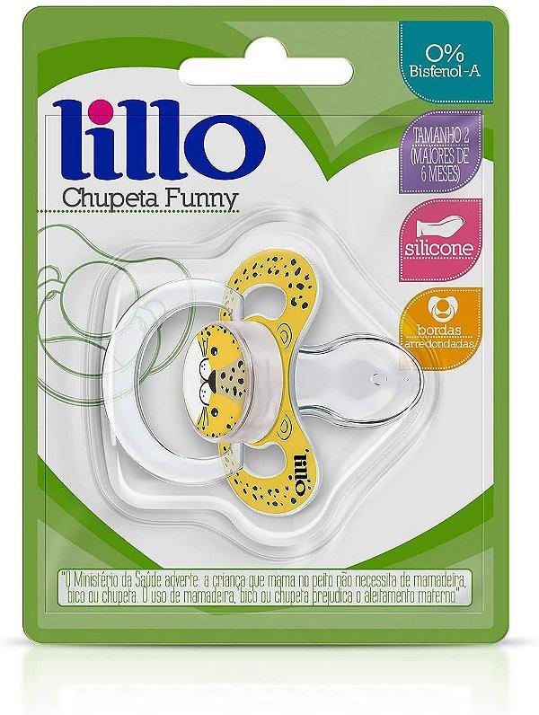 Chupeta Funny Silicone Anatômico, Onça, 6+ meses - Lillo