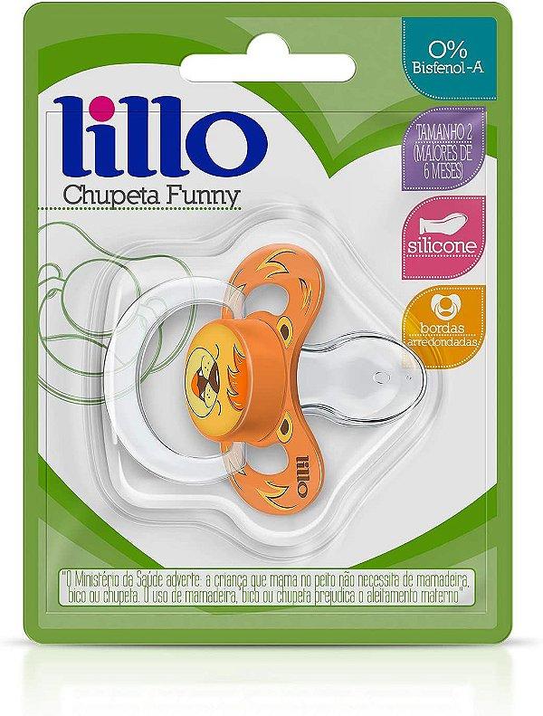Chupeta Funny Silicone Anatômico Leão, 6+ meses - Lillo