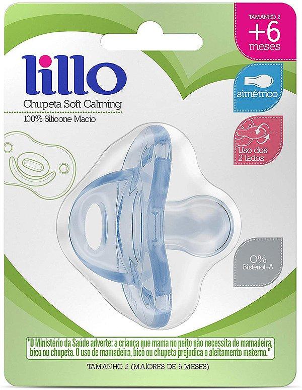Chupeta Soft Calming Silicone Simétrico 6+meses, Azul - Lillo