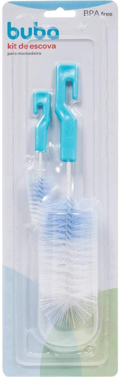 Escova de Mamadeira e Bico, Azul - Buba