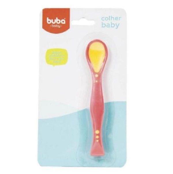 Colher para Bebê Flexível Rosa - Buba