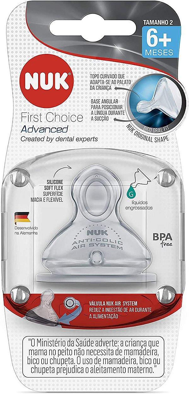 Bico First Choice Advanced Silicone Liq. Engrossados S2 - Nuk