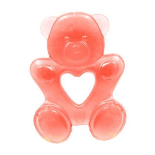 Mordedor para Bebê Ursinho De Agua Gelado Infantil Vermelho