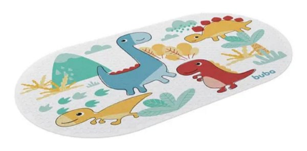 Tapete Infantil Antiderrapante para Banho Dino, Buba