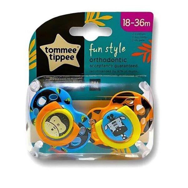 Chupeta Fun Style 18-36 Meses, 2 un, Menino, Tommee Tippee
